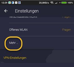 App Einstellungen Für Cyberghost Vpn 7 Für Android