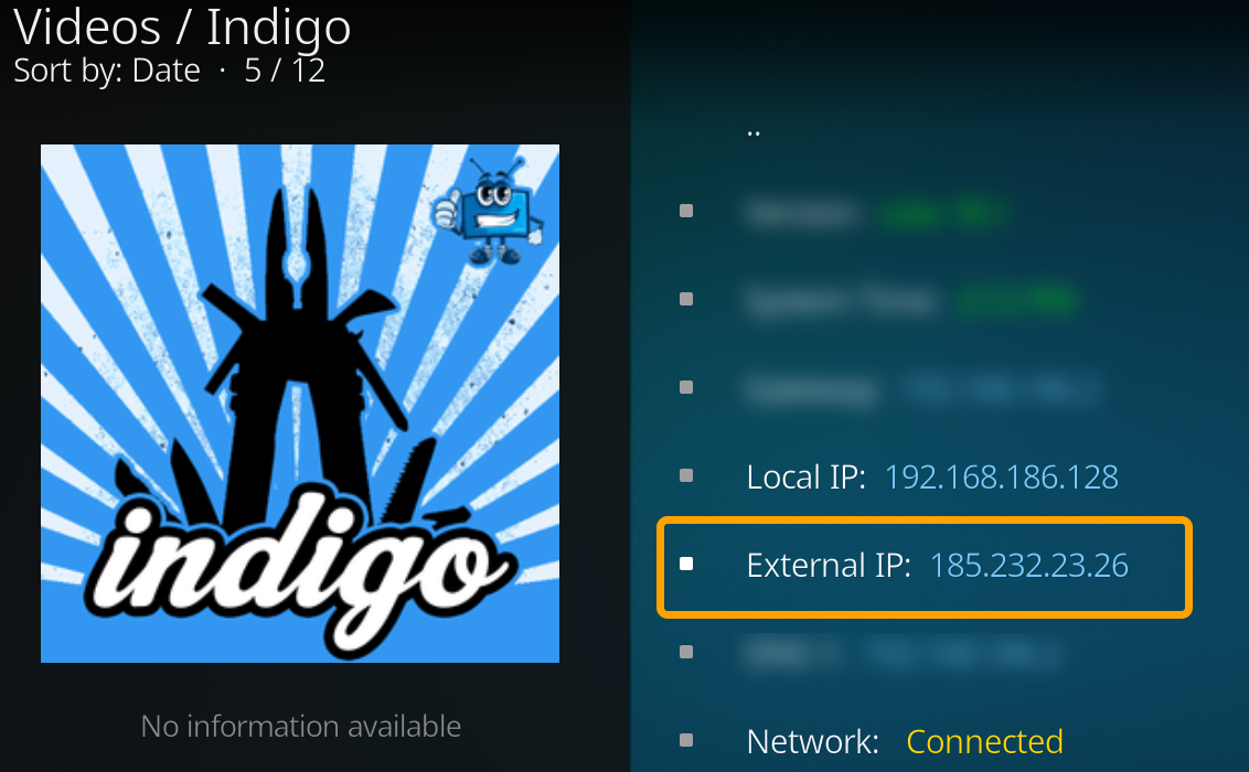 How to check your External IP when using a VPN with Kodi on